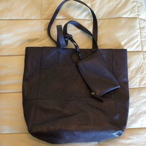 Joy Susan Leather Tote with Wallet
